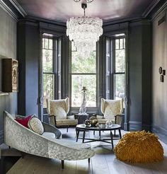 A glamorous and eclectic Brooklyn townhouse by @tamaraeatondesign.  The sofa is by Ico Parisi, and the wingback chairs by Paolo Buffa.
