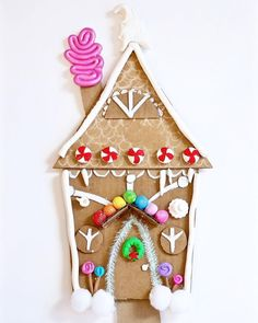 "Today we started our ~ DIY Cardboard ""Candy"" Cottages featured in the Mountain Parent Magazine with our yro ~ mini Maker Monday… Cardboard Gingerbread House, Sugar Plums Dancing, Fun Crafts, Crafts For Kids, Alpaca My Bags, Strong Willed Child, Toilet Paper Roll Crafts, Cardboard Crafts, Christmas Activities"