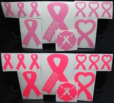 Pink Ribbon Decals Display Your Support for Breast Cancer Awareness