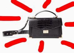 The Kooples - Medium Emily bag in black croc embossed leather