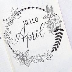 "150 Likes, 4 Comments - Didy Panpie (@didypanpie) on Instagram: ""Hello April!!!! #bulletjournal #bulletjournaling #bulletjournalinspiration #bujo #bujoaddict…"""