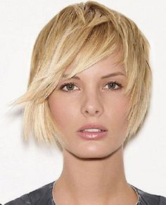 Short hairstyles for oval faces short bob long bangs - Cool & Trendy Short Hairstyles 2014