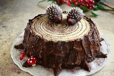 Juditka konyhája: ~ SÜNIS FATÖRZSTORTA ~ Hungarian Cake, Cooking Recipes, Healthy Recipes, Xmas, Christmas, Breakfast Recipes, Cake Decorating, Food And Drink, Sweets