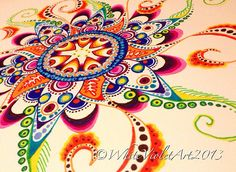 Beautiful, colorful mandala