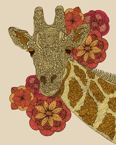 The Giraffe by Valentina -  ART PRINT