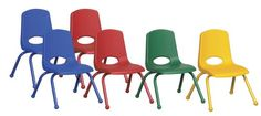 Kids' Desk Chairs - ECR4Kids School Stack Chair with Powder Coated Legs Ball Glides 12 6Pack Assorted Colors ** Check this awesome product by going to the link at the image.
