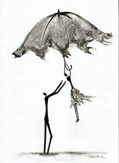 Krystyna Siwek - rain - abstract gallery Rain Street, Rain Painting, Abstract, Gallery, Drawings, Illustration, Pictures, Art, Summary