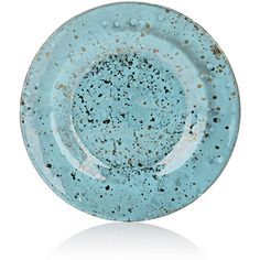 Untitled Homeware Glass & Chalcedony Dessert Plate (€68) ❤ liked on Polyvore featuring home, kitchen & dining, dinnerware, glass dinnerware, light blue dinnerware, glass dessert plates and handmade dinnerware
