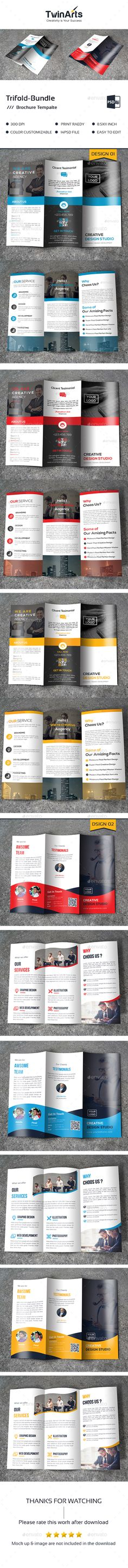 2 Tri-fold Brochure Templates PSD. Download here: https://graphicriver.net/item/trifold-bundle_2-in-1/17122500?ref=ksioks