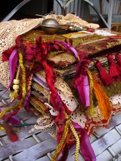 Fabric Art Journals | Fabric Art Journal Smash Book Inspiration, Art Journal Inspiration, Felt Fabric, Fabric Art, Fabric Books, Altered Books, Altered Art, Fabric Journals, Art Journals