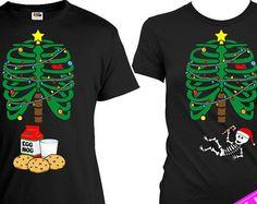 Matching Christmas Shirts Matching Shirts For Couples Pregnant Skeleton Shirt Christmas Pregnancy Announcement Christmas Gift MAT-460-375