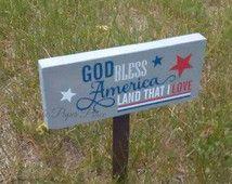 Garden Sign, USA Garden Sign, Military Garden Sign, Patriotic Garden Sign…