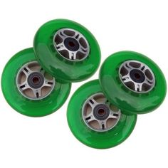 4 GREEN Wheels WAbec 7 Bearings for RAZOR SCOOTERS ** Find out more about the great product at the image link.