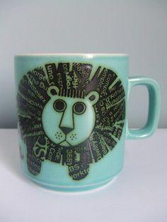 Vintage 70s Hornsea Lion mug