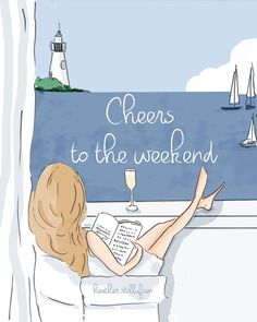 Hello weekend by Heather Stillufsen Collection from Rose Hill Designs Happy Weekend Quotes, Its Friday Quotes, Friday Gif, Tuesday Quotes, Hello Weekend, Bon Weekend, Weekend Gif, Weekend Images, Hello Saturday