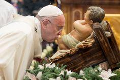 Bilder, Tages, Vatikanstadt., Papst, Franziskus, Ende, Gottesdienstes, Petersdom, Statue, Jesus