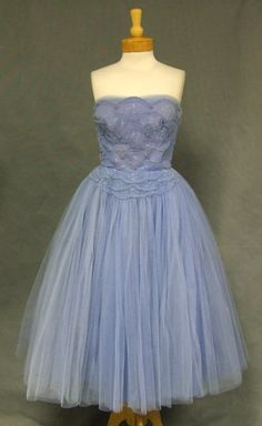 Gorgeous tulle 1950's cocktail dress