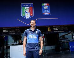Giorgio Chiellini of Italy pose for a photo at Casa Azzurri on June 9, 2016 in Montpellier, France.