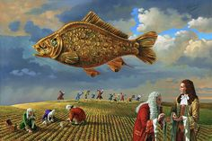 """Gold Fish"" by Michael Cheval  - Park West Gallery"