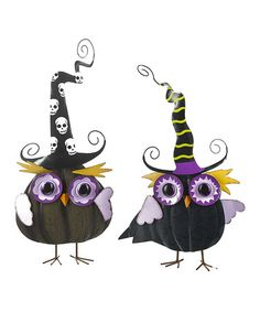 Take a look at this Spooky Owl Figurine Set by GANZ on #zulily today!