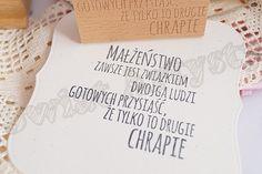 Stempel drewniany akrylowy MAŁŻEŃSTWO ZAWSZE JEST... Świat Artysty 58x55