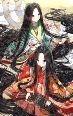 Cool Anime Girl, Girls Anime, Beautiful Anime Girl, Kawaii Anime Girl, Anime Art Girl, Anime Long Hair, Anime Black Hair, Long Black Hair, Anime Hair