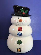 Ganz Bella Casa Snowman Cookie Jar