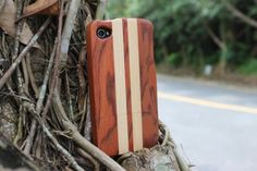 Amazon.com: Unique Handmade Natural Wood Wooden Hard Case Cover for iPhone 4 4s (rosewood and maple): Cell Phones & Accessories