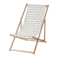 MYSINGSÖ ビーチチェア, 折りたたみ式 グレー - 折りたたみ式 グレー