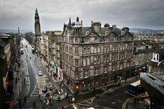 Edinburgh, Scotland - (The West End of Princes St., is a popular pub and restaurant area.)