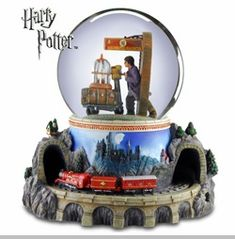 The San Francisco Music Box Company Harry Potter Hogwarts Express Snow ...