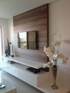 modern wood paneling wood paneling above console table