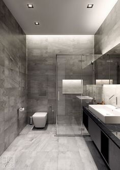 5 Minimalist Bathroom Design Ideas for Every Taste Grey Bathrooms Designs, Bathroom Design Luxury, Modern Bathrooms, Black Bathrooms, Outdoor Bathrooms, Dream Bathrooms, Beautiful Bathrooms, Master Bathrooms, Luxury Bathrooms