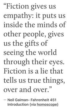 Fiction is a lie that tells us truths over and over Reading Quotes, Writing Quotes, Book Quotes, I Love Books, Books To Read, Fiction Quotes, Fangirl, Leadership, Trauma