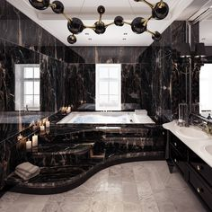 Luxury Bathroom Designs That You Love To Copy - House Interior Ideas bathroomdesigns Dream House Interior, Luxury Homes Dream Houses, Dream Home Design, Home Interior Design, Modern Mansion Interior, Luxury Interior, Luxury Home Decor, Gothic Interior, Beautiful Interior Design
