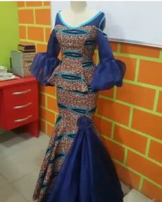 Must Have Gorgeous Ankara Peplum Styles & Designs Latest African Fashion Dresses, African Dresses For Women, African Print Dresses, African Print Fashion, Africa Fashion, African Attire, Ankara Fashion, Latest Fashion, African Prints