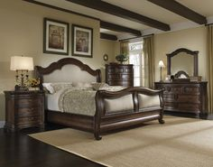 Jeremy insists on a bedroom set like this, but I like a lighter more feminine style. Will have to find a happy medium.. :)