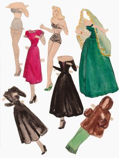 The Paper Collector: Handmade paper doll, c. 1940s