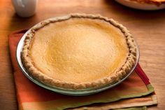 A traditional pumpkin pie filling in an extra-flavorful crust.