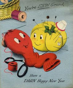 vintage everyday: A Collection of 30 Lovely Vintage New Year Cards                                                                                                                                                                                 More