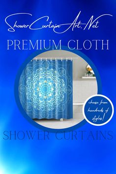 Drastically enhance your bathroom decor with a soft & stylish fabric shower curtain from Shower Curtain Art. Mandala Shower Curtain, Shower Curtain Art, Modern Shower Curtains, Fabric Shower Curtains, Bathroom Shower Curtains, Bathroom Fixtures, Bohemian Bathroom, Blue Lotus, Shower Accessories