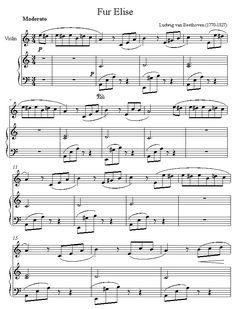 Ноты «Об Элизе» Людвига Ван Бетховена (Fur Elise) Fur Elise, Sheet Music Notes