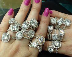 engagement rings, diamonds, jewelry, Sasha Primak, halo rings,