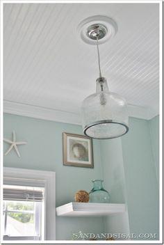 Beadboard_ceiling/ light fixture