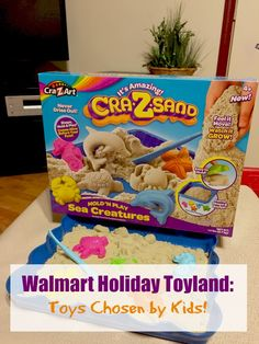 Find great gift ideas at Walmart's Holiday Toyland events - our Cra-Z-Sand is awesome!  (And mess free!!!)