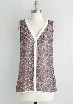 I Just Want to Tank You Top in Night, @ModCloth