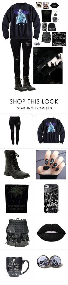 """""""The Call Of Ktulu - Metallica"""" by luna-karloff ❤ liked on Polyvore featuring Gestuz, Hot Topic and Lime Crime"""