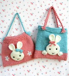 Knitting Pattern for Bunny Bags