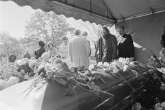 Allen Ginsberg at Jack Kerouac's Funeral by Jeff Albertson, 1969
