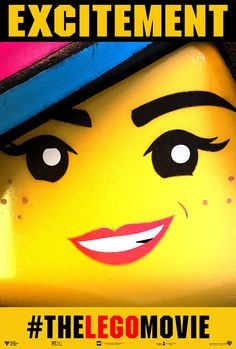 THE LEGO MOVIE Poster with Elizabeth Banks as Wyldstyle Character